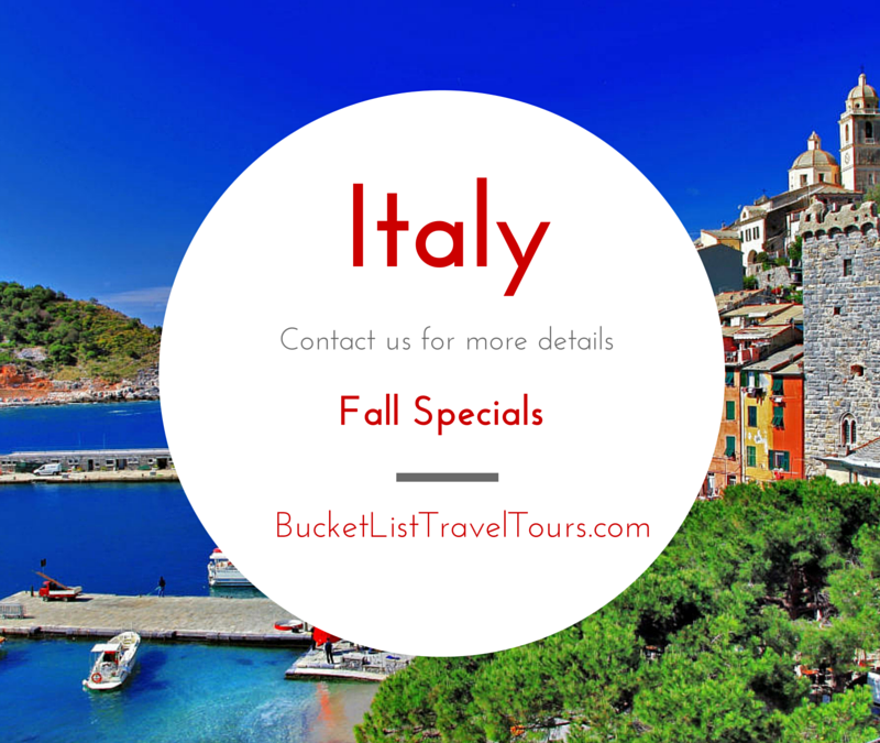 Fall Specials to Italy
